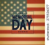 memorial day background.... | Shutterstock .eps vector #275526377