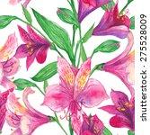 alstroemeria watercolor... | Shutterstock .eps vector #275528009