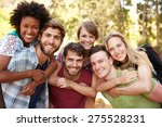 group of friends on walk... | Shutterstock . vector #275528231