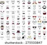 set of cartoon faces with... | Shutterstock .eps vector #275533847