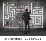 business concept. back view of... | Shutterstock . vector #275534321