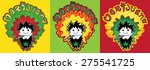 happy relaxed rastafarian guy... | Shutterstock .eps vector #275541725
