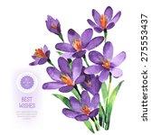 Vector Watercolor Purple...