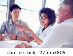 three business professionals... | Shutterstock . vector #275553809