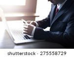 businessman working on the... | Shutterstock . vector #275558729