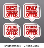 best weekend offer speech... | Shutterstock .eps vector #275562851