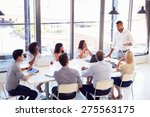 businessman presenting to... | Shutterstock . vector #275563175