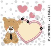 valentine card with bear with... | Shutterstock .eps vector #275566184