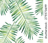 tropical leaves watercolor.... | Shutterstock .eps vector #275573699