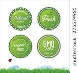 set of organic bio labels | Shutterstock .eps vector #275574935