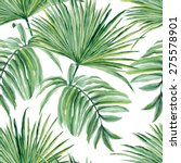 Tropical Leaves Watercolor....