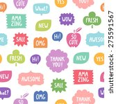colorful phrases seamless... | Shutterstock .eps vector #275591567