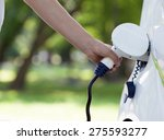 electric vehicle charging | Shutterstock . vector #275593277