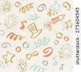 seamless pattern on 4 july....   Shutterstock .eps vector #275604545