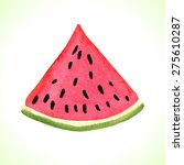 hand drawn watercolor... | Shutterstock .eps vector #275610287