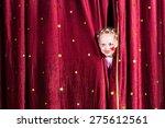 pretty little girl wearing... | Shutterstock . vector #275612561