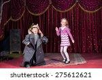 children wearing clown make up... | Shutterstock . vector #275612621