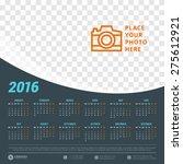 Calendar 2016 Vector Design...