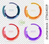 circle set. vector illustration.... | Shutterstock .eps vector #275614019