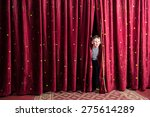 excited little boy on stage... | Shutterstock . vector #275614289