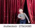 happy little boy actor making... | Shutterstock . vector #275614385