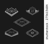 set of hipster vintage labels ... | Shutterstock .eps vector #275615684