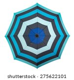 Beach Umbrella Isolated On...