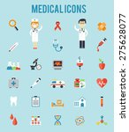 set of medical icons.... | Shutterstock . vector #275628077