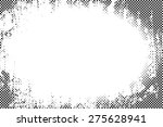 Border frame grunge halftone dots vector texture background