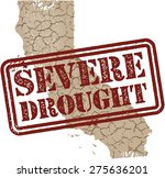 california severe drought stamp | Shutterstock .eps vector #275636201