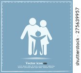 happy family icon in simple... | Shutterstock .eps vector #275639957