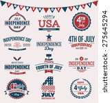 fourth of july typography... | Shutterstock .eps vector #275645294