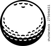 real golf ball | Shutterstock .eps vector #275646611
