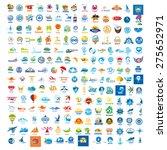large set of vector logos trip | Shutterstock .eps vector #275652971