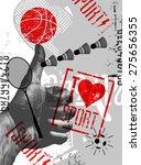 i love sport. vintage grunge... | Shutterstock .eps vector #275656355