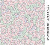 vector seamless pattern with... | Shutterstock .eps vector #275657117
