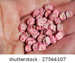 close up of a pea seed in a... | Shutterstock . vector #27566107