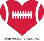 american football heart | Shutterstock .eps vector #275663759
