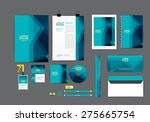 blue corporate identity... | Shutterstock .eps vector #275665754