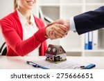 two business people shaking... | Shutterstock . vector #275666651