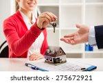 closeup of smiling woman... | Shutterstock . vector #275672921