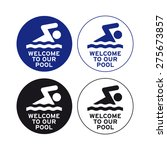 swimming sign vector set... | Shutterstock .eps vector #275673857