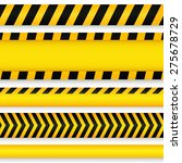 yellow with black police line... | Shutterstock .eps vector #275678729