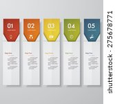 design clean number banners... | Shutterstock .eps vector #275678771