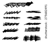 set of hand drawn grunge brush | Shutterstock .eps vector #275682491