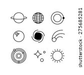 space line icons | Shutterstock .eps vector #275685281