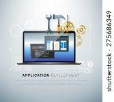 vector illustration of app... | Shutterstock .eps vector #275686349