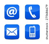 web contact us icons with... | Shutterstock .eps vector #275686679