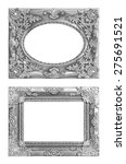 the antique silver frame on the ... | Shutterstock . vector #275691521