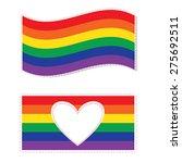 gay family flag vector   gay... | Shutterstock .eps vector #275692511